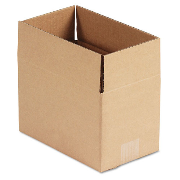 """Fixed-depth Shipping Boxes, Regular Slotted Container (rsc), 10"""" X 6"""" X 6"""", Brown Kraft, 25/bundle"""