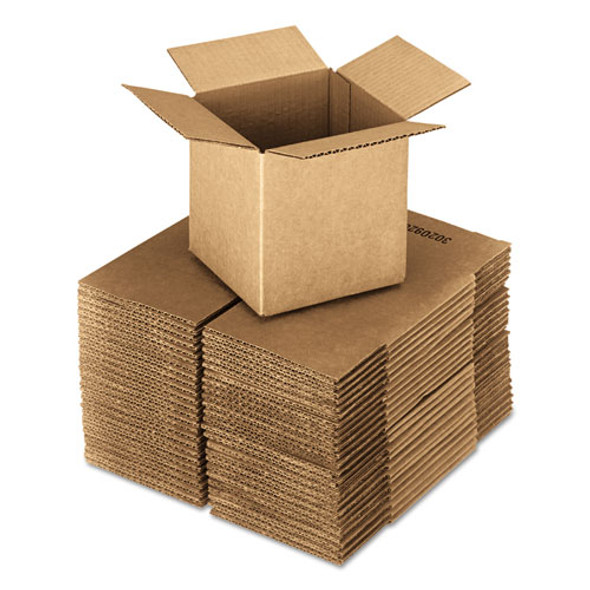 """Cubed Fixed-depth Shipping Boxes, Regular Slotted Container (rsc), 18"""" X 18"""" X 18"""", Brown Kraft, 20/bundle"""