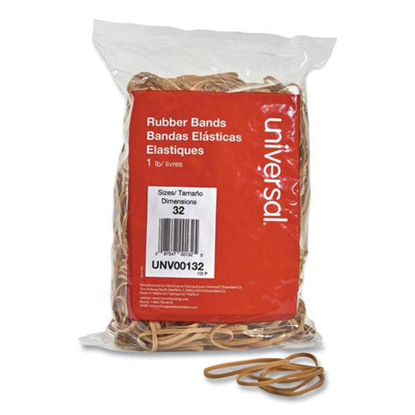 "Rubber Bands, Size 32, 0.04"" Gauge, Beige, 1 Lb Box, 820/pack"