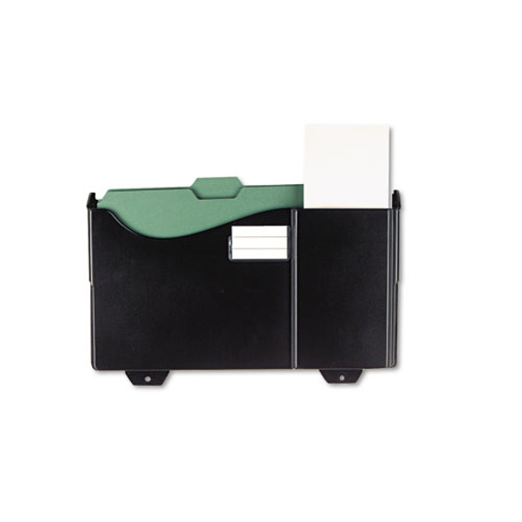 Add-on Pocket For Grande Central Filing System, Plastic, Black