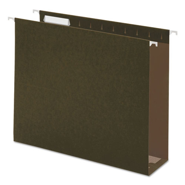 Box Bottom Hanging File Folders, Letter Size, 1/5-cut Tab, Standard Green, 25/box - IVSUNV14143