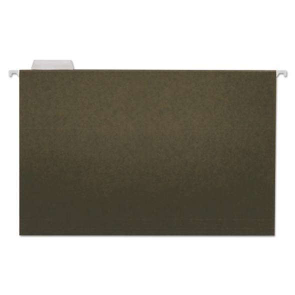 Hanging File Folders, Legal Size, 1/5-cut Tab, Standard Green, 25/box