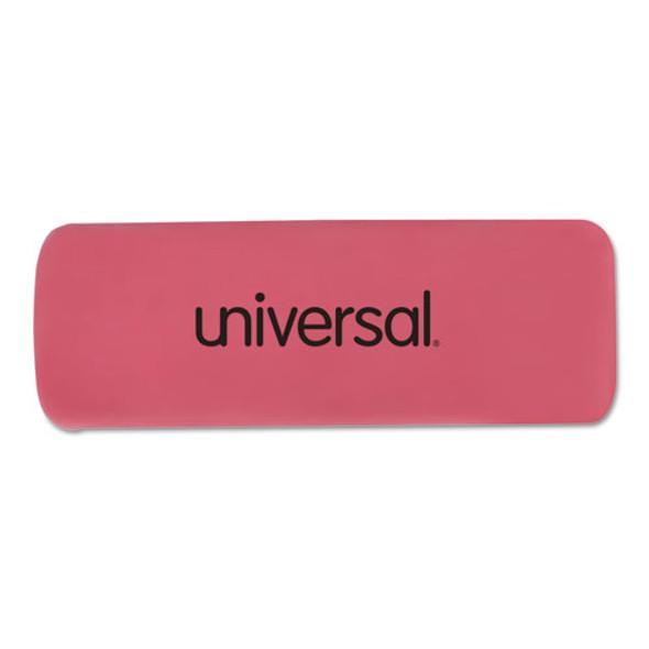 Bevel Block Erasers, Rectangular, Small, Pink, Elastomer, 20/pack