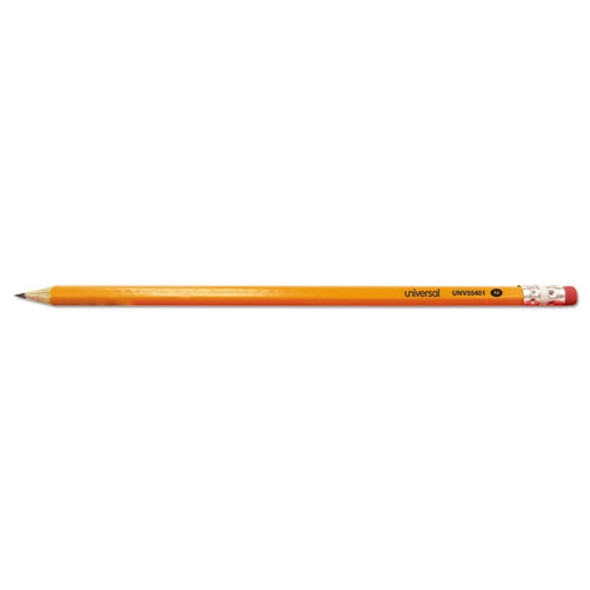 #2 Pre-sharpened Woodcase Pencil, Hb (#2), Black Lead, Yellow Barrel, 24/pack