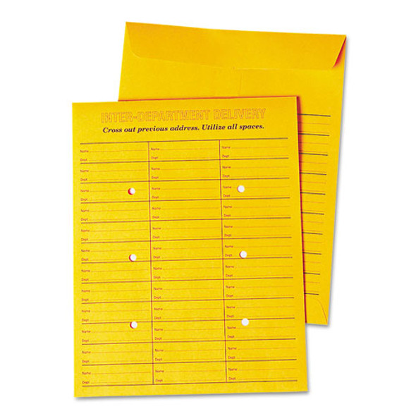 Deluxe Interoffice Press & Seal Envelopes, #97, Two-sided Three-column Format, 10 X 13, Brown Kraft, 100/box