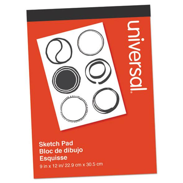 Sketch Pad, 160 Lb, 9 X 12, White, 70 Sheets