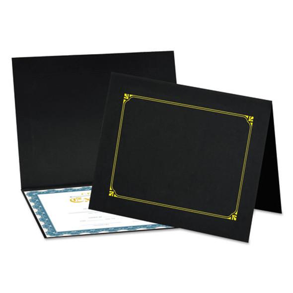 Certificate/document Cover, 8 1/2 X 11 / 8 X 10 / A4, Black, 6/pk