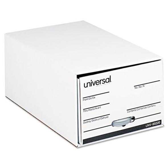 Economy Storage Drawer Files, Legal Files, White, 6/carton
