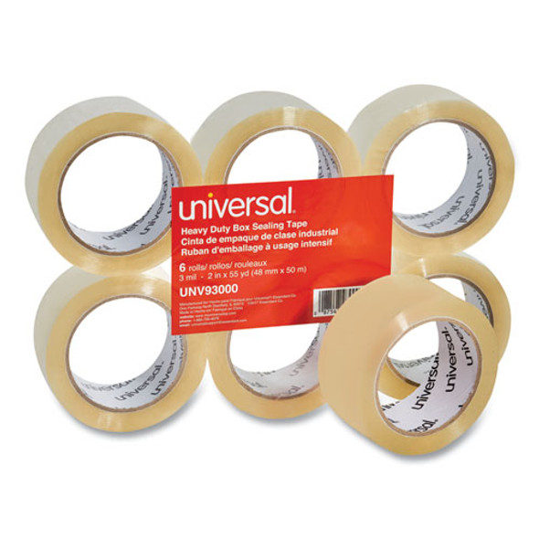 "Heavy-duty Box Sealing Tape, 3"" Core, 1.88"" X 54.6 Yds, Clear, 6/box"