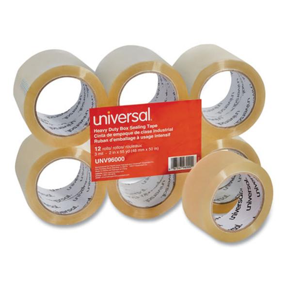 "Heavy-duty Box Sealing Tape, 3"" Core, 1.88"" X 54.6 Yds, Clear, 12/box"