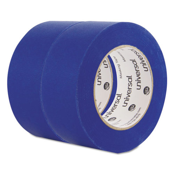 """Premium Blue Masking Tape With Uv Resistance, 3"""" Core, 48 Mm X 54.8 M, Blue, 2/pack"""