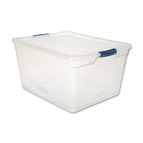 Clever Store Basic Latch-lid Container, 18 5/8w X 23 1/2d X 12 1/4h 71qt, Clear