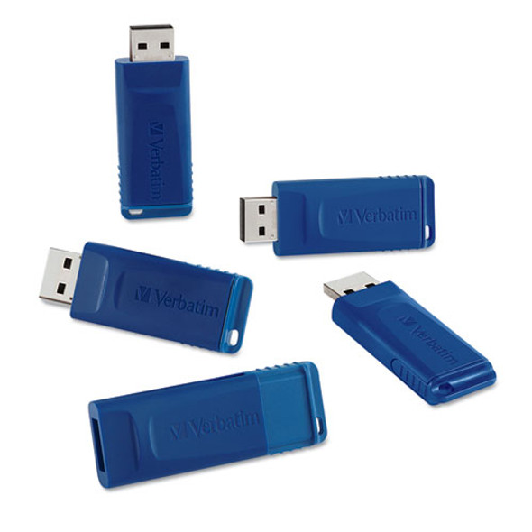 Classic Usb 2.0 Flash Drive, 8 Gb, Blue, 5/pack