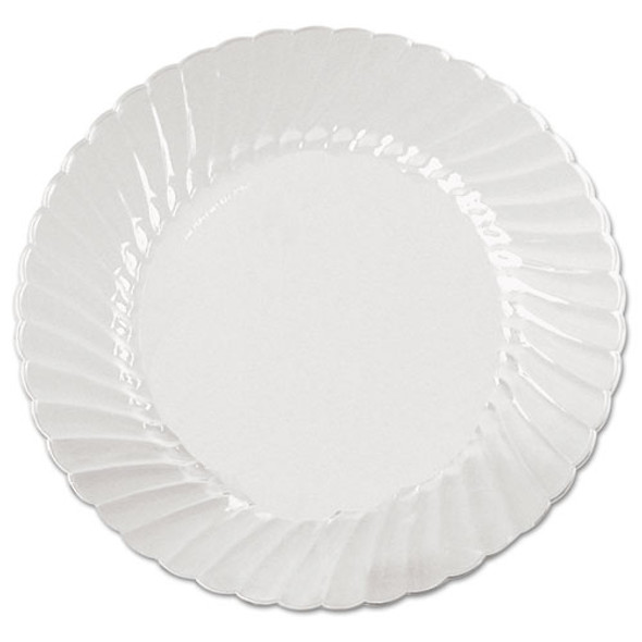 Classicware Plates, Plastic, 9 In, Clear, 18/bag, 10 Bag/carton
