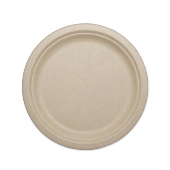 """Fiber Plates, 10"""", Natural, 800/carton"""