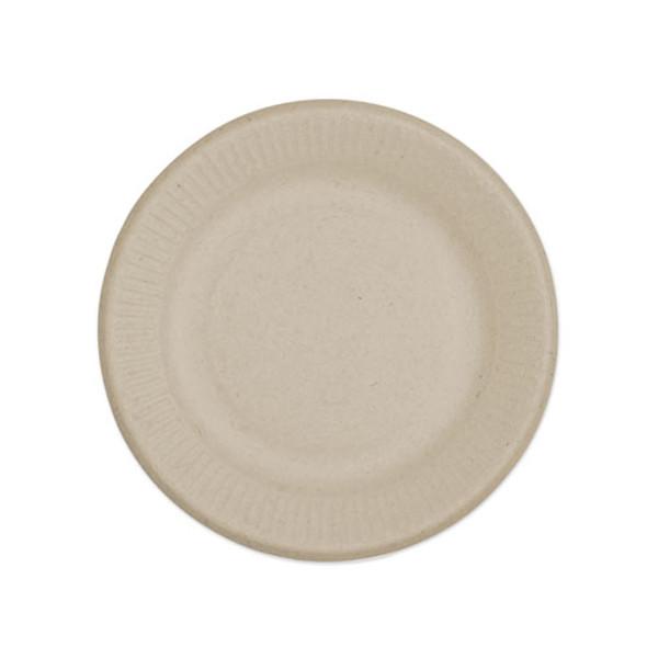 "Fiber Plates, Ripple Edge, 6"", Natural, 1,000/carton"
