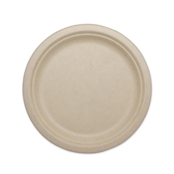 """Fiber Plates, 9"""", Natural, 1,000/carton"""