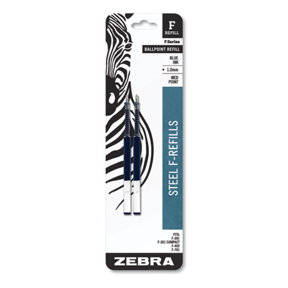 F-refill, Medium Point, Blue Ink, 2/pack