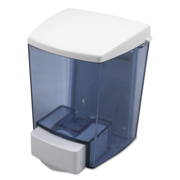 "Clearvu Encore Liquid Soap Dispenser, 30 Oz, 4.5"" X 4"" X 6.25"", Black/white"