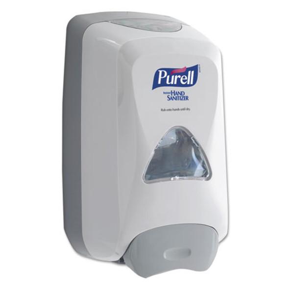 """Fmx-12 Foam Hand Sanitizer Dispenser For 1200 Ml Refill, 6.6"""" X 5.13"""" X 11"""", White"""
