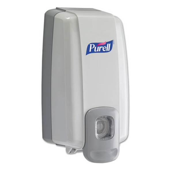 "Nxt Space Saver Dispenser, 1000 Ml, 5.13"" X 4"" X 10"", White/gray"