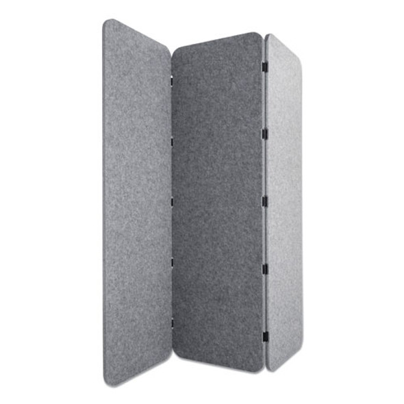 Concertina Foldable Sound Reducing Room Divider Privacy Screen, 70 X 1 X 70, Polyester/nylon, Gray