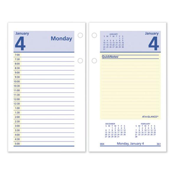 Quicknotes Desk Calendar Refill, 3.5 X 6, 2021