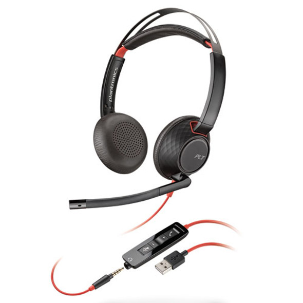Blackwire 5220, Binaural, Over The Head Headset