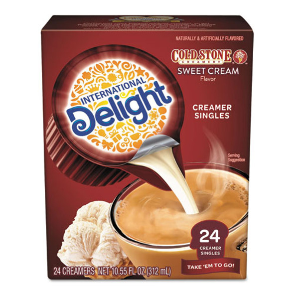 Flavored Liquid Non-dairy Creamer, Coldstone Sweet Cream, Mini Cups, 24/box