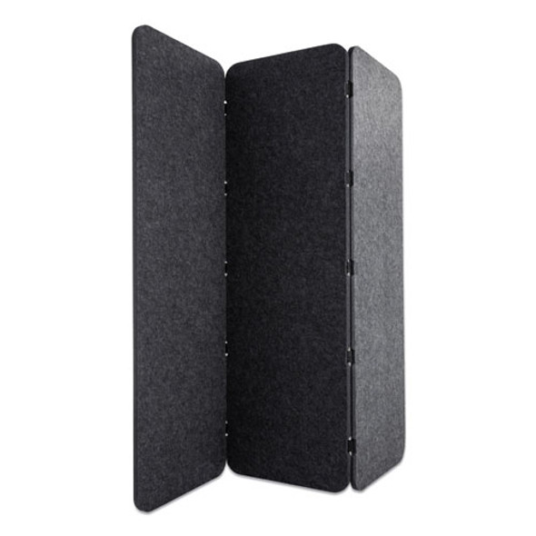 Concertina Foldable Sound Reducing Room Divider Privacy Screen, 70 X 1 X 70, Polyester/nylon, Ash