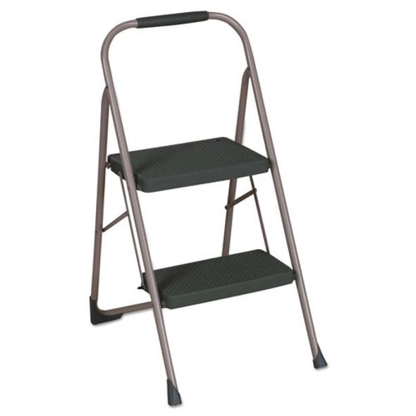 "Big Step Folding Stool, 2-step, 200 Lb Capacity, 22"" Spread, Black/gray"
