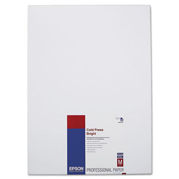 Cold Press Bright Fine Art Paper, 21 Mil, 13 X 19, Textured Matte White, 25/pack