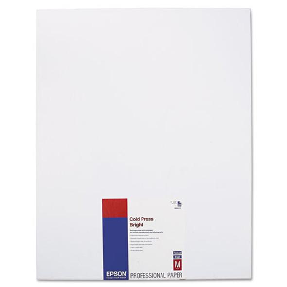 Cold Press Bright Fine Art Paper, 21 Mil, 17 X 22, Textured Matte White, 25/pack