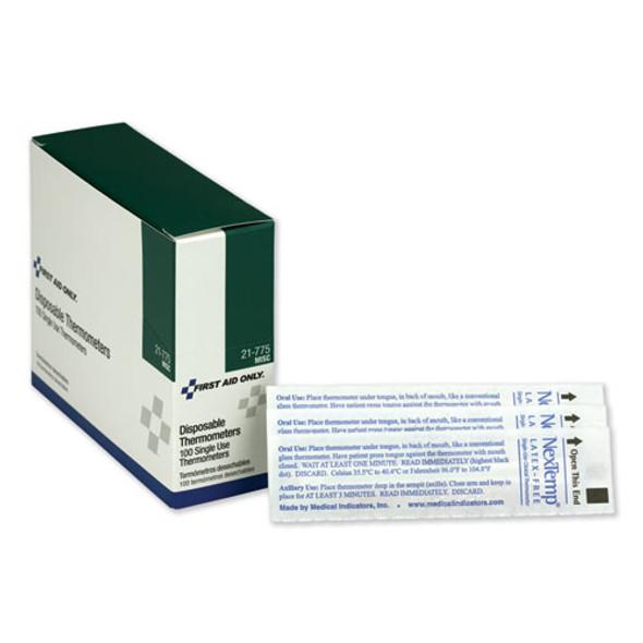Disposable Thermometer, Dot-matrix Phase-change, 100/box