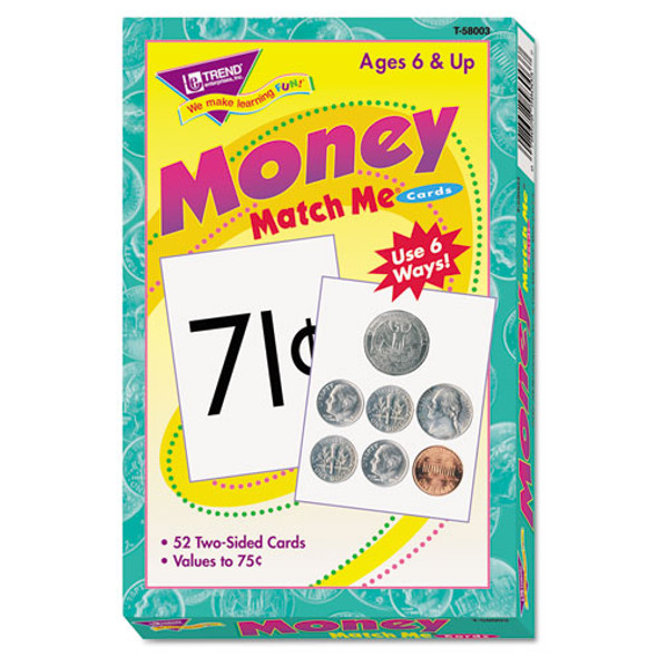 Match Me Cards, Money-us Currency, 52 Cards, Ages 6 And Up