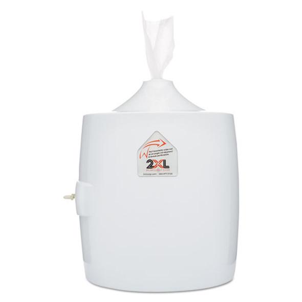 "Contemporary Wall Mount Wipe Dispenser, Plastic, 11"" X 11"" X 13"", White"