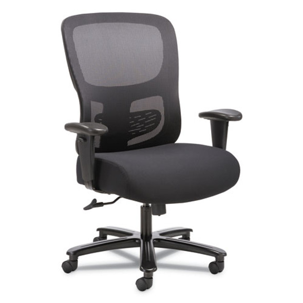 1-fourty-one Big And Tall Mesh Task Chair, Supports Up To 350 Lbs., Black Seat/black Back, Black Base