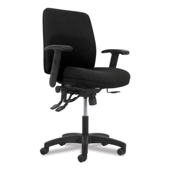 Network Mid-back Task Chair, Supports Up To 250 Lbs., Black Seat/black Back, Black Base - IVSHONVL282Z1VA10T