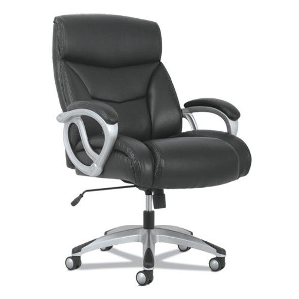 3-forty-one Big And Tall Chair, Supports Up To 400 Lbs., Black Seat/black Back, Aluminum Base