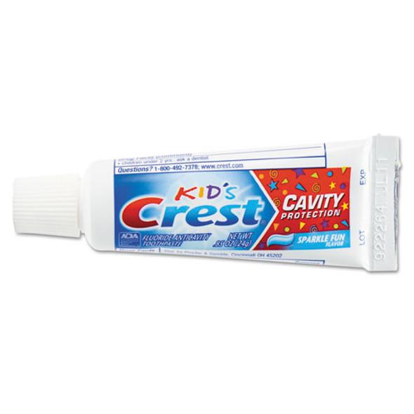 Kids' Sparkle Toothpaste, Blue, Bubblegum Flavor, 0.85 Oz, 72/ct