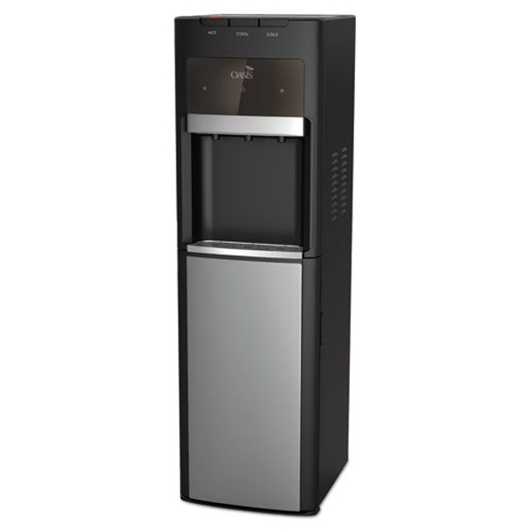 Mirage Floorstand Convertible Hot N Cold Water Cooler, 177 Oz/cold Water Per Hour; 270 Oz/hot Water Per Hour, Black