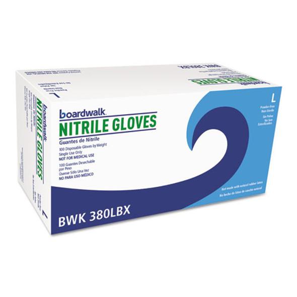 Disposable General-purpose Nitrile Gloves, Large, Blue, 4 Mil, 1000/carton