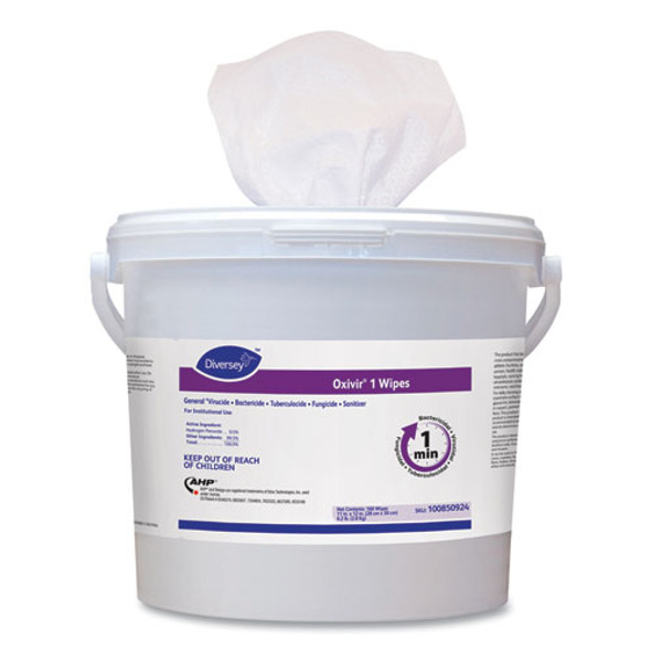 """Oxivir 1 Wipes, 11"""" X 12"""", 160/canister, 4/carton"""