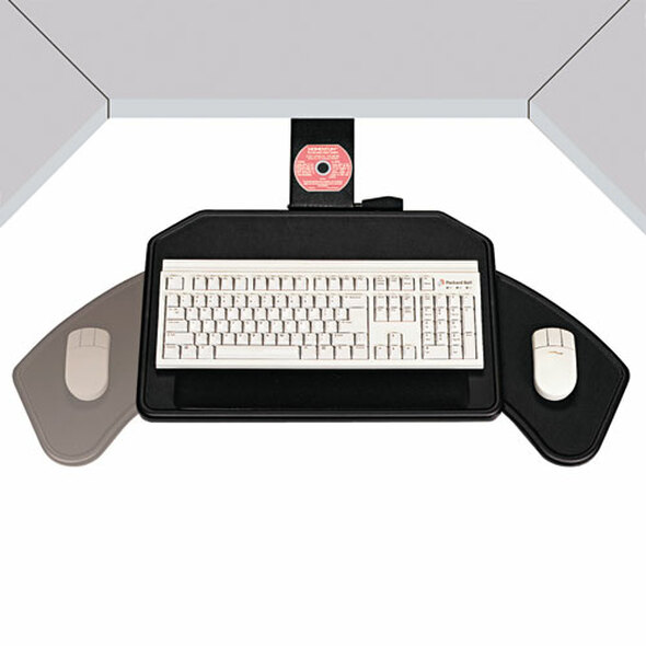 Boomerang Board Corner Workstation Platform, 22.5w X 13.5d, Black