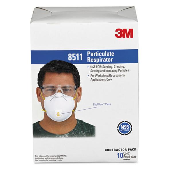 Particulate Respirator W/cool Flow Exhalation Valve, 10 Masks/box