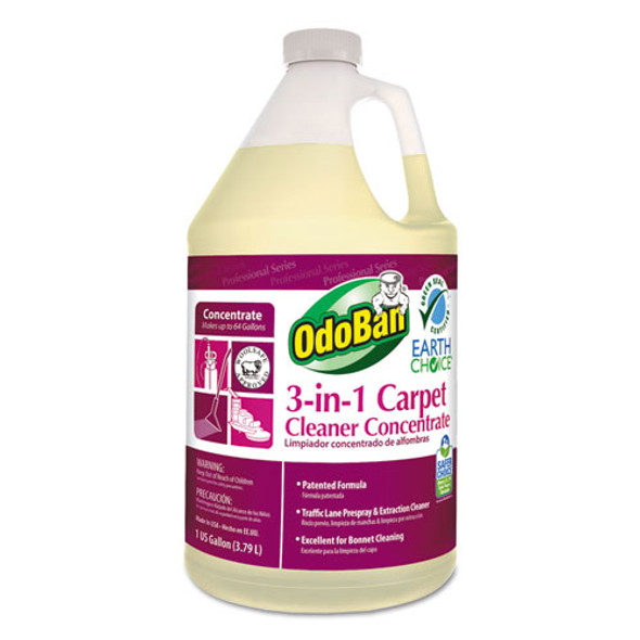 Earth Choice 3-n-1 Carpet Cleaner, 128 Oz Bottle, Unscented, 4/ct