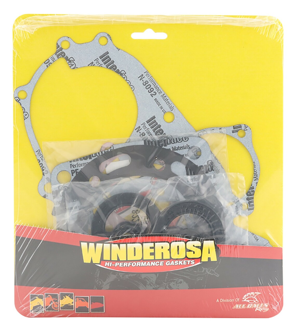 Gasket Set with Oil Seals For 1996 Polaris Xplorer 400 4x4 ATV~Winderosa 811808