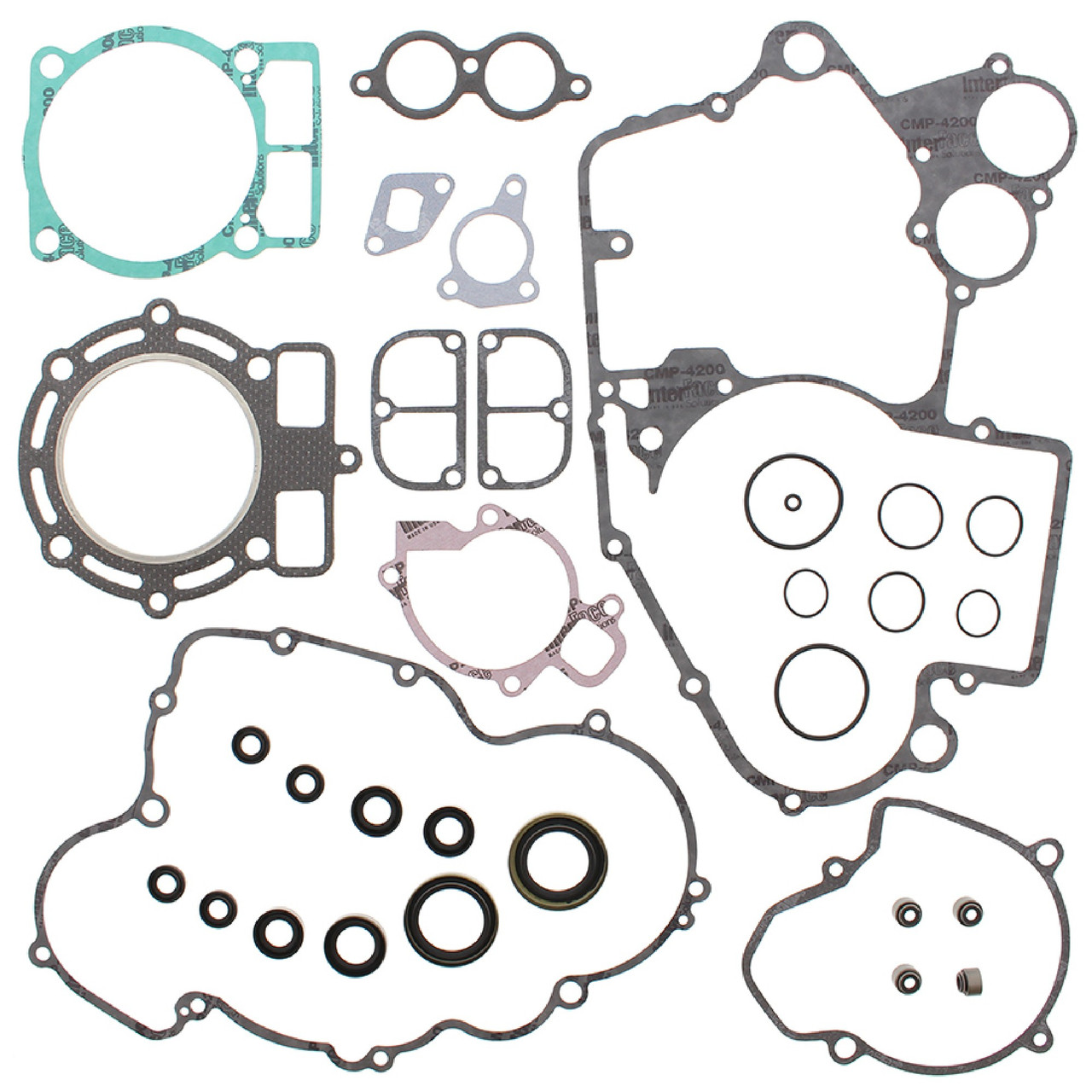 Winderosa Gasket Kit With Oil Seals for KTM 400 EXC Racing 00 01 02