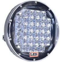 """J&N Driving Light, 12/24V, LED, 8,000 Lumens, White, 9"""", Spot, Black Housing"""