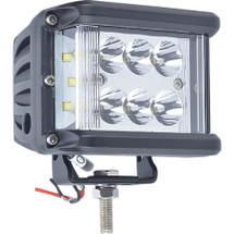 J&N Work Light, 12/24V, LED, 5100 Lumens, White, Spot/Flood, Black Housing